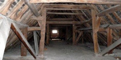 The age of the interior roof space can tell us a lot about the age of the building